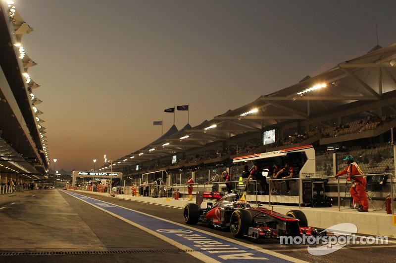Celebró su 25ª pole position en Abu Dhabi 2012