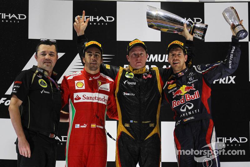 Fernando Alonso, 2º en el GP de Abu Dhabi 2012