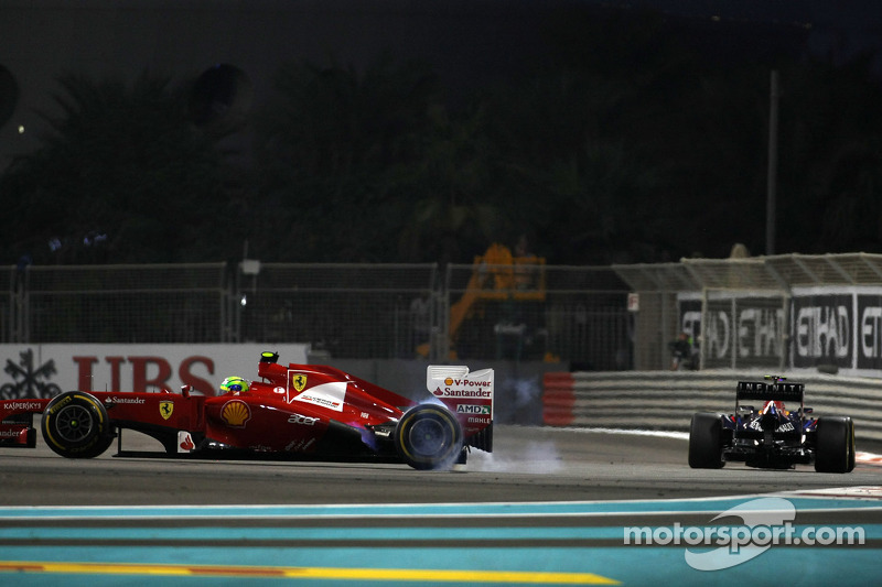 Felipe Massa, Scuderia Ferrari en Mark Webber, Red Bull Racing