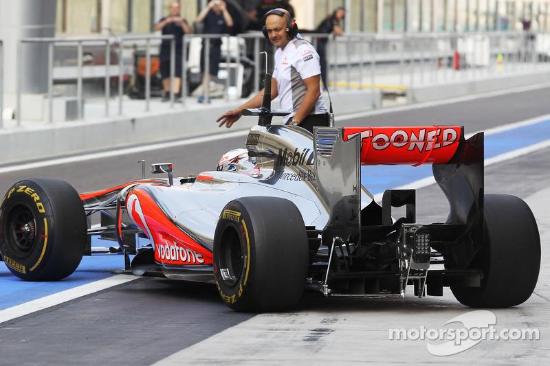Gary Paffett, McLaren testrijder, diffuser
