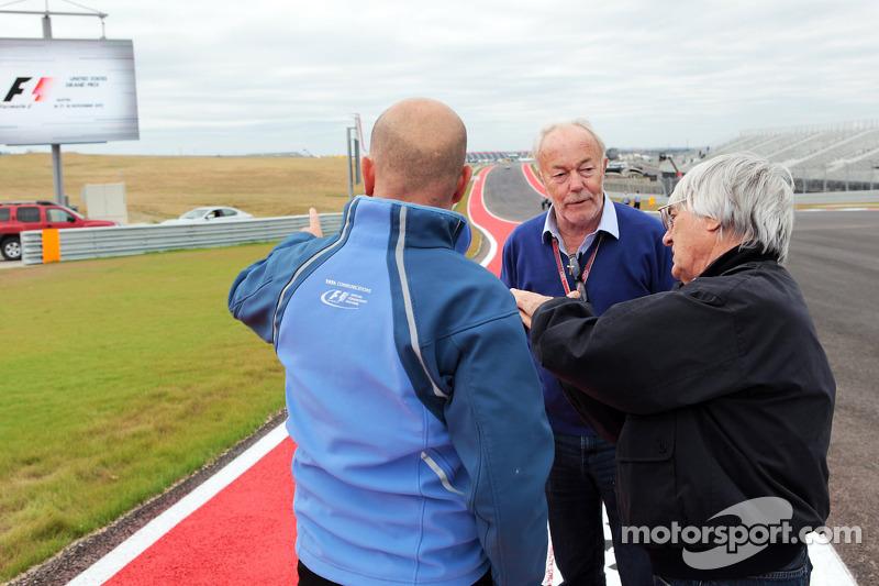 Jean-Paul Nulens met Bernie Ecclestone, CEO Formula One Group