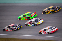 Joey Coulter, Richard Childress Racing Chevrolet and Danica Patrick, JR Motorsports Chevrolet lead a group of cars