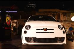 Fiat 500 display at the Austin Fan Fest on the Saturday night