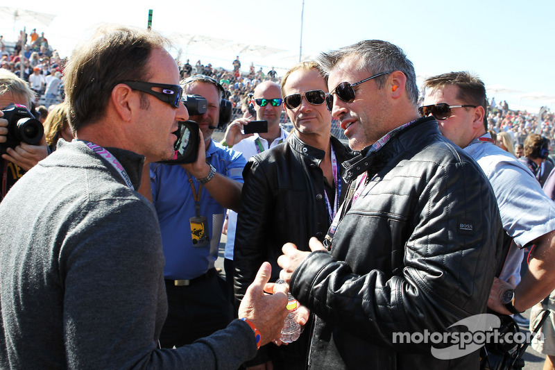 Rubens Barrichello, Williams met Matt LeBlanc, acteur