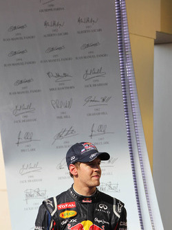 Sebastian Vettel, Red Bull Racing on the podium