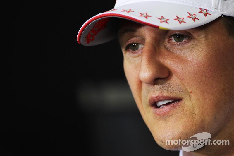 Michael Schumacher, Mercedes AMG F1, in der FIA-Pressekonferenz
