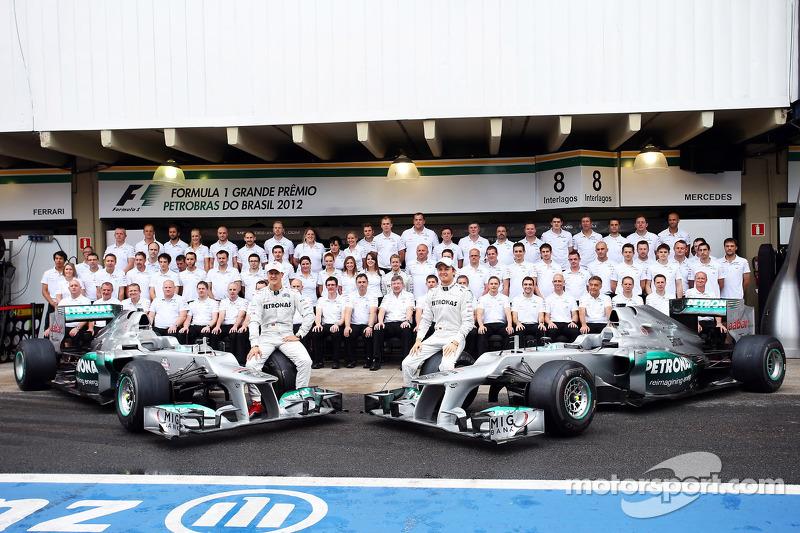 Михаэль Шумахер и Нико Росберг. ГП Бразилии, Воскресенье, перед гонкой.