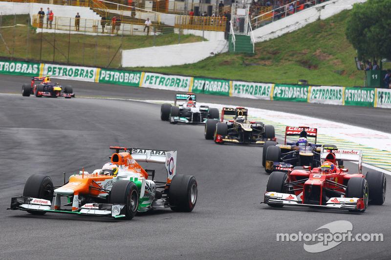 Пол ди Реста. ГП Бразилии, Воскресная гонка.