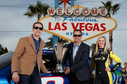 Brad Keselowski, Paul Wolfe and the Sprint Cup girl