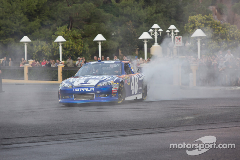 Jimmie Johnson burnout