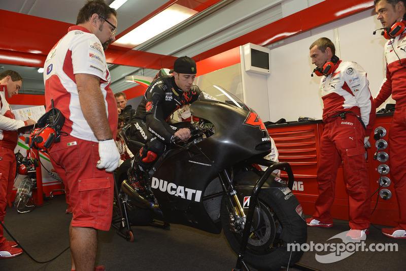 Andrea Dovizioso tes akhir musim bersama Ducati