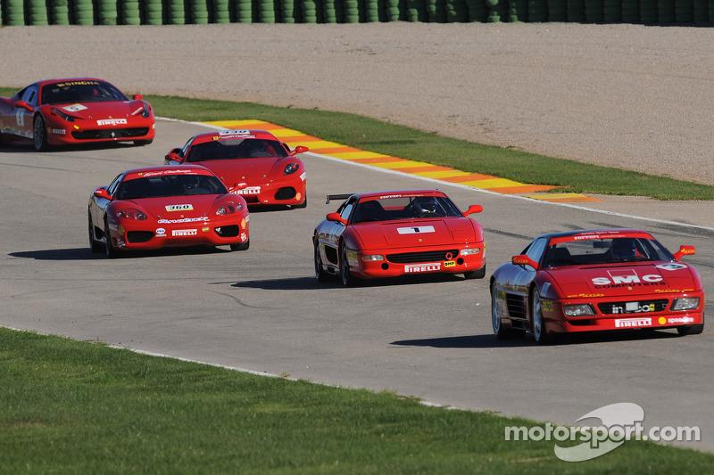 Vijf generaties van de Ferrari Challenge