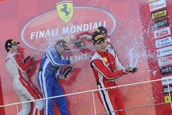 Finali Coppa Shell podium: race winner Alexey Basov, second place Raffaele Giannoni, third place Renato di Amato