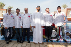 Себастьен Лёб, Микко Хирвонен и Даниэль Сордо. Презентация Citroën Total Abu Dhabi World Rally Team, презентация.
