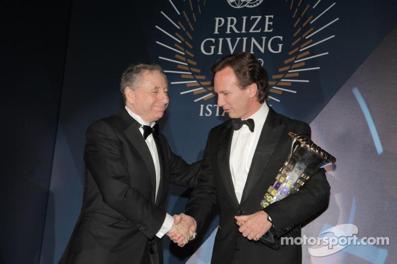 FIA Formula One World Championship trofee constructoren - Christian Horner - Jean Todt