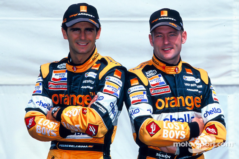 Pedro de la Rosa y Jos Verstappen