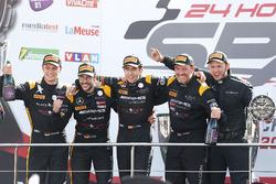 Pro-Am Podium: Race winner #16 Black Falcon Mercedes-AMG GT3: Oliver Morley, Miguel Toril, Maximilian Götz, Marvin Kirchhöfer