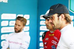 Nick Heidfeld, Mahindra Racing, Lucas di Grassi, ABT Schaeffler Audi Sport, and Jean-Eric Vergne, Techeetah