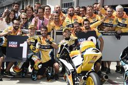 First place Gabriel Rodrigo, RBA Racing Team, second place Juan Francisco Guevara, RBA Racing Team after qualifying
