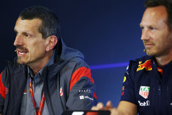 Guenther Steiner, Team Principal, Haas F1 Team, Christian Horner, Team Principal, Red Bull Racing, in the FIA Press Conference