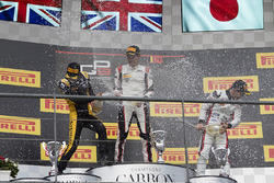 Podium: race winner George Russell, ART Grand Prix, second place Jack Aitken, ART Grand Prix, third place Nirei Fukuzumi, ART Grand Prix
