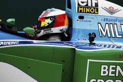 Mick Schumacher drives a Benetton B194