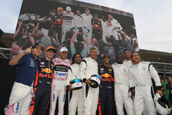 Dida, Louis Saha, Michel Salgado, Christian Karembeu, Francesco Toldo, Daniel Ricciardo, Red Bull Racing, Esteban Ocon, Sahara Force India F1, Max Verstappen, Red Bull Racing and Sergio Perez, Sahara Force India