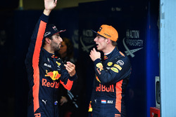 Daniel Ricciardo, Red Bull Racing and Max Verstappen, Red Bull Racing in parc ferme