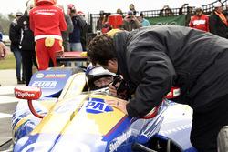 Sieger Alexander Rossi, Curb Herta - Andretti Autosport Honda, feiert mit Tesambesitzer Michael Andretti