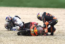 Niccolo Antonelli, Red Bull KTM Ajo, caída