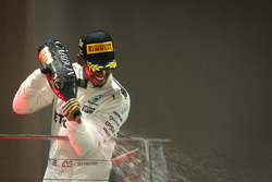 Podium: race winner Lewis Hamilton, Mercedes AMG F1