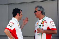 Stefano Domenicali, Ferrari Manager F1 Operations con Luigi Mazzola, Test Team Manager