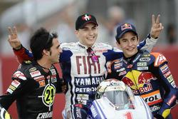 Toni Elias, Jorge Lorenzo, Yamaha, Marc Marquez, les Champions du monde 2010