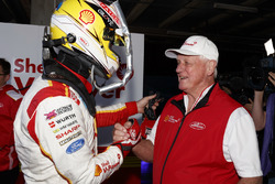 Polesitter Scott McLaughlin, DJR Team Penske with Dick Johnson