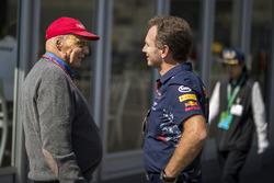 Неисполнительный директор Mercedes Ники Лауда и руководитель Red Bull Racing Кристиан Хорнер