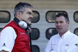 Dieter Gass, Head of DTM Audi Sport with Tom Kristensen
