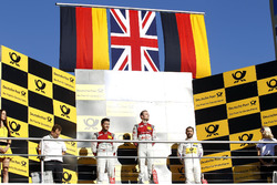 Podium: Race winner Jamie Green, Audi Sport Team Rosberg, Audi RS 5 DTM, second place Mike Rockenfeller, Audi Sport Team Phoenix, Audi RS 5 DTM, third place Timo Glock, BMW Team RMG, BMW M4 DTM