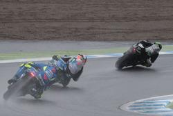Жоан Зарко, Monster Yamaha Tech 3, Алекс Ринс, Team Suzuki MotoGP, и Андреа Янноне, Team Suzuki MotoGP