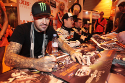 Shane Lynch, on the Maxxis Stand