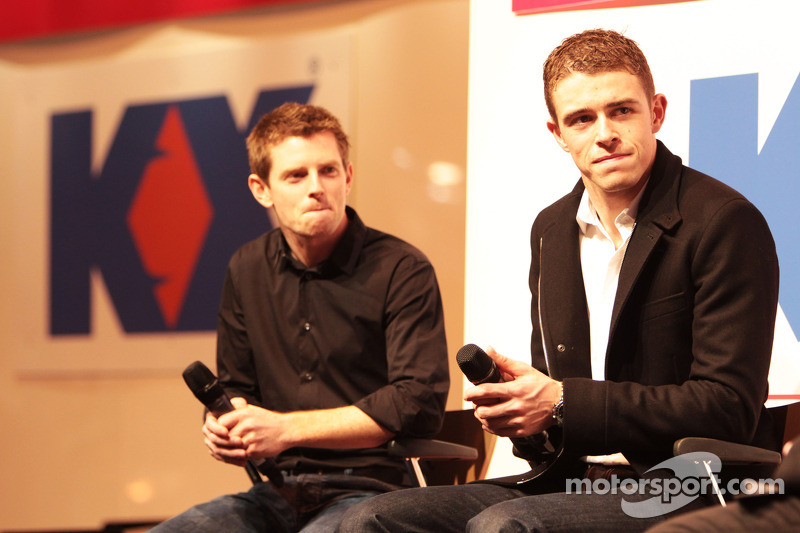 Anthony Davidson en Paul di Resta, Sahara Force India F1 op de Autosport Stage
