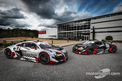 Présentation de la livrée de l'Audi R8 du APR Motorsport
