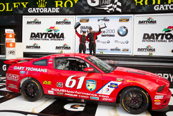 GS podium: class and overal winners Billy Johnson and Jack Roush Jr. celebrate