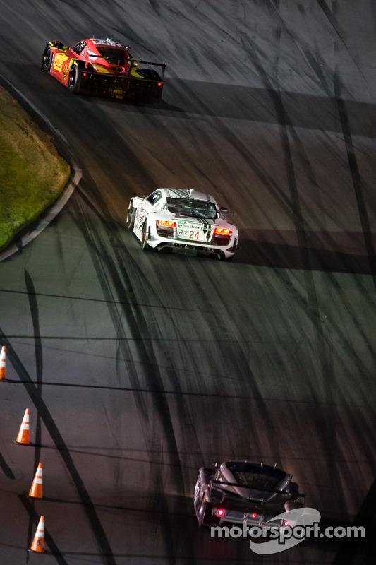 #42 Team Sahlen BMW Riley: Dane Cameron, Wayne Nonnamaker, Simon Pagenaud, #24 Audi Sport Customer R