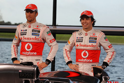 Jenson Button, McLaren and Sergio Perez, McLaren unveil the new McLaren MP4-28