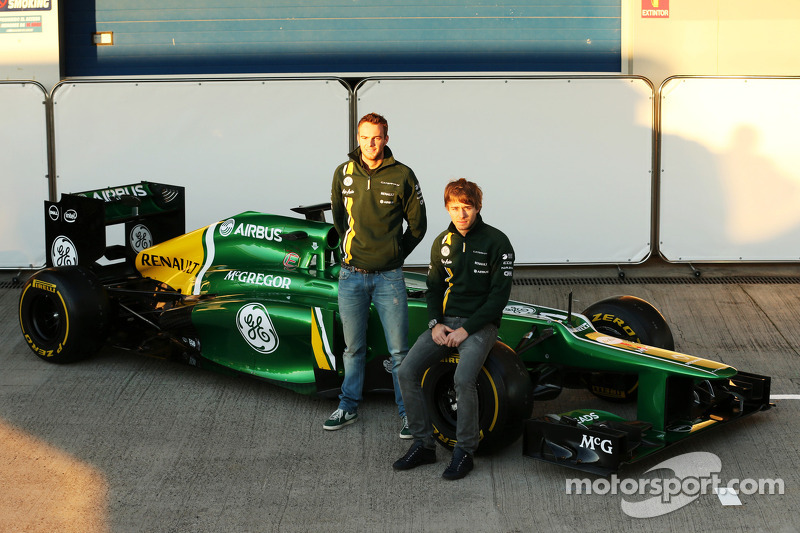 Гидо ван дер Гарде и Шарль Пик. Презентация Caterham CT03, Презентация.