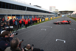 The new Marussia F1 Team MR02 is revealed