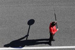 Marussia F1 Team pit stop lollipop holder