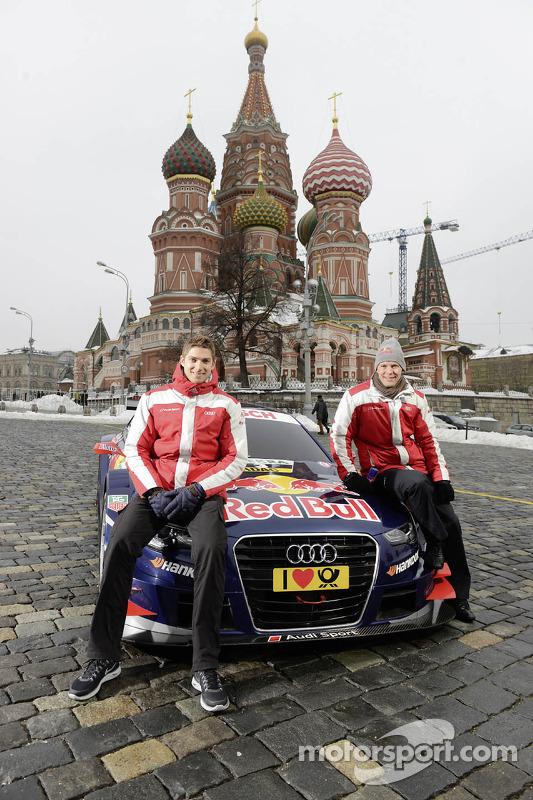 Edoardo Mortara e Mattias Ekström desvendar Audi 's carro DTM 2013