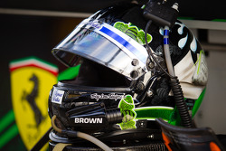 Helmet of Ed Brown