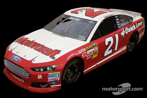2013 Daytona 500 #21 Ford Fusion with 1963 paint scheme